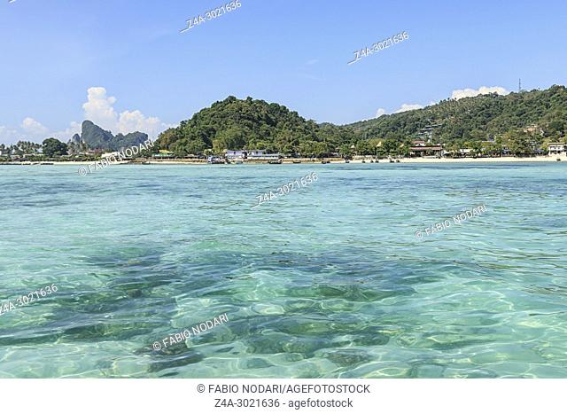 Crystal clear water in Phi Phi Don Island in Krabi, Thailand