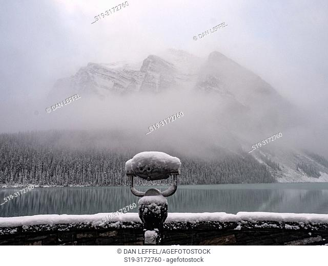 Canadian Rockies. Lake Louise. Winter