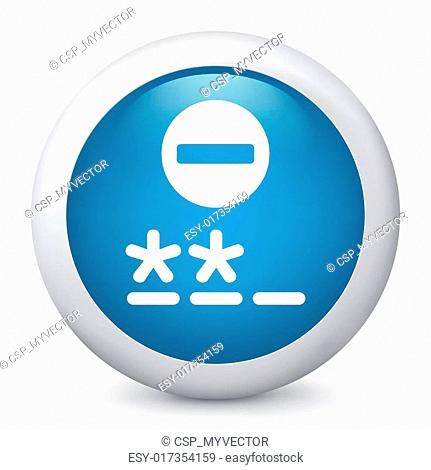 Vector blue glossy icon