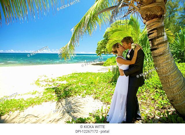 Beach wedding; Kauai, Hawaii, United States of America