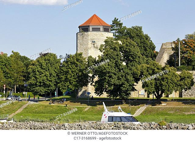 Hainburg an der Donau, Austria, Lower Austria, Hainburg an der Donau, Danube-Auen National Park, water tower, defence tower