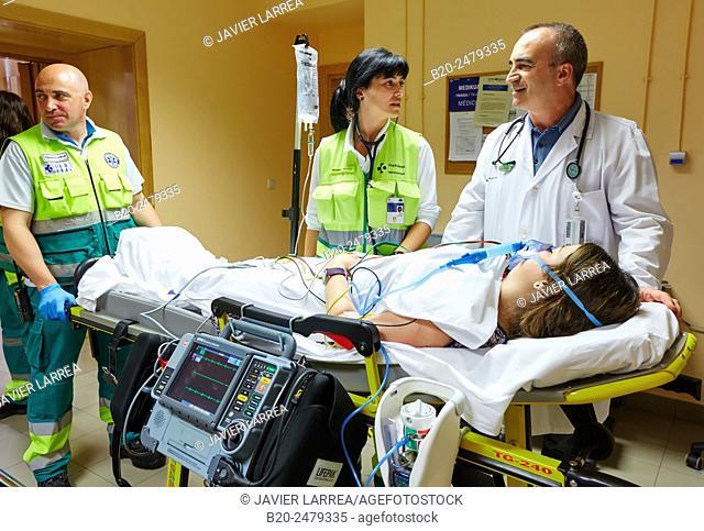 Triage, Emergency room, Hospital Donostia, San Sebastian, Gipuzkoa, Basque Country, Spain