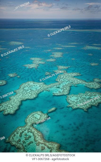Great Barrier Reef, Queensland, Australia. Aerial View