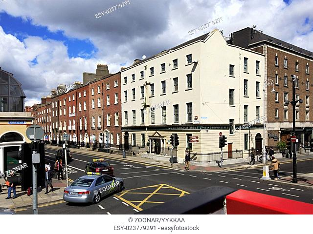 Central streets of Dublin
