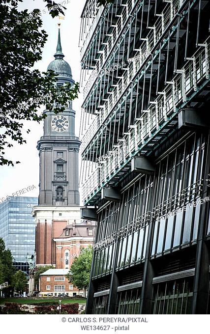 St. Michael's Church - Hamburg's major landmarks. Germany