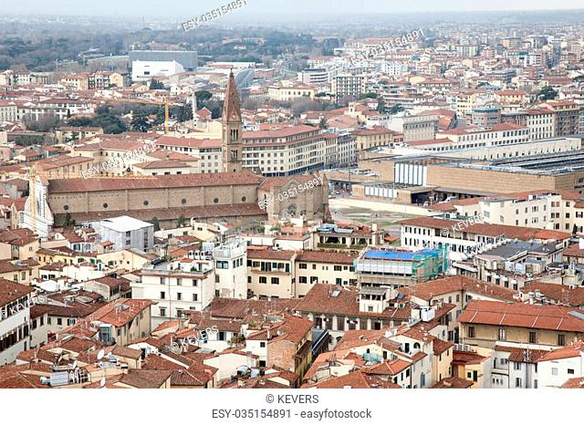 Florence Cityscape, Italy including Santa Maria Novella Church and Railway Station