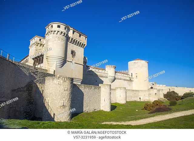 Mudejar castle. Cuellar, Segovia province, Castilla Leon, Spain