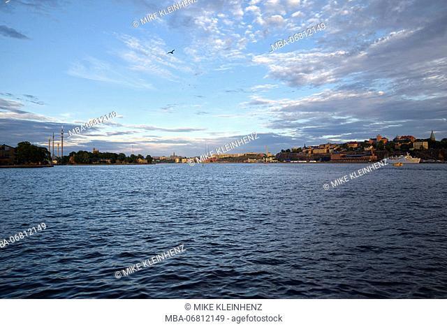 Sweden, Stockholm, sundown on the water