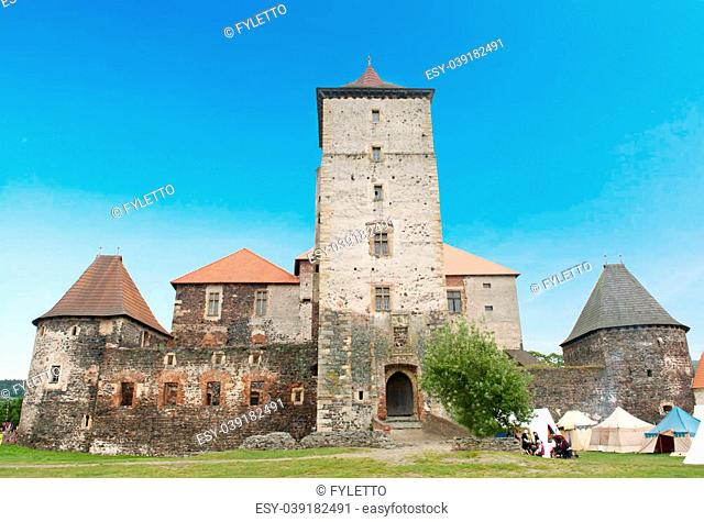 Old castle Svihov is located on the South of the Czech Republic