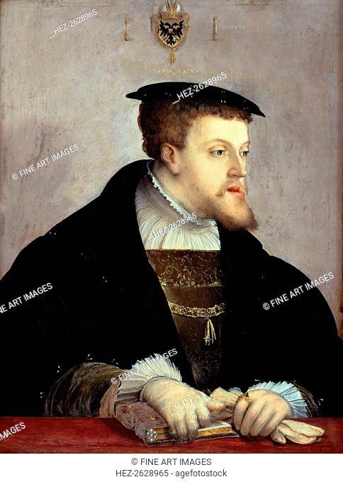 Portrait of the Emperor Charles V (1500-1558), ca 1532. Artist: Amberger, Christoph (ca. 1500-1562)