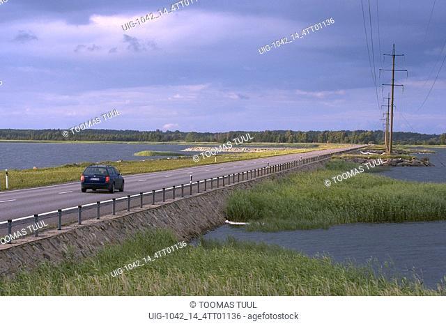 The Land Bridge between Saaremaa and Muhumaa