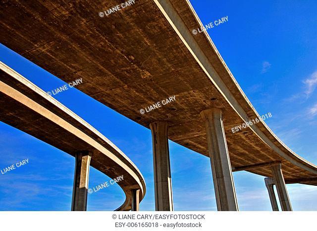 abstract LA freeway