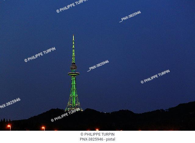 Asia, China, Shandong Province, Qingdao. Qingdao TV Tower