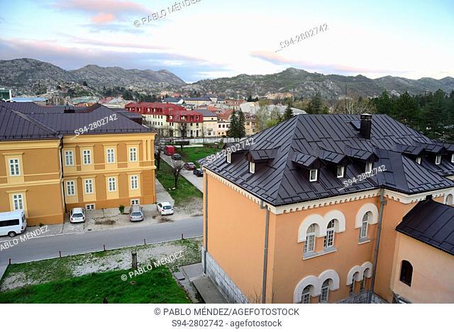 General view of Cetinje, Montenegro