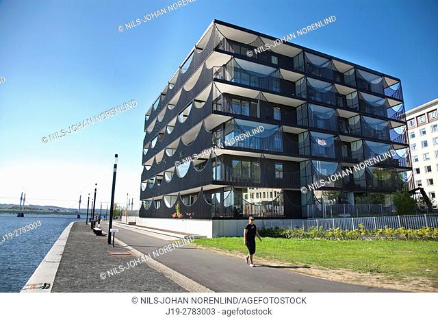 Modern building Munksjökajen Jönköping, Sweden