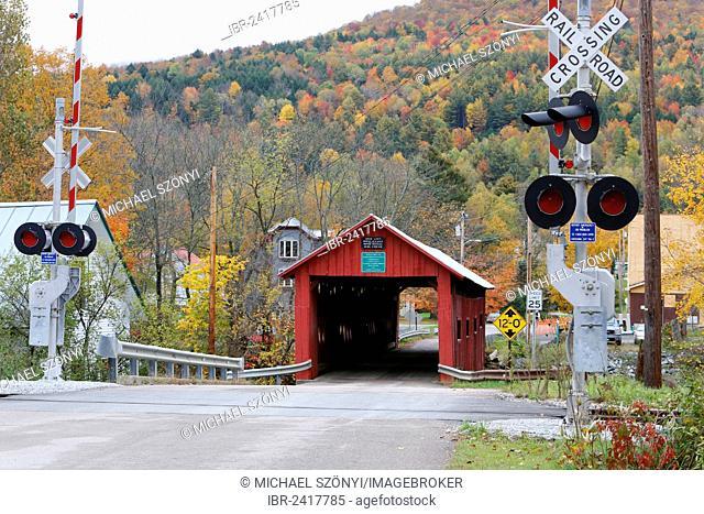 Cox Brook Covered Bridge, Vermont, USA