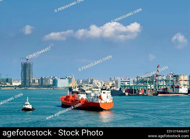 Cityscape of ocean