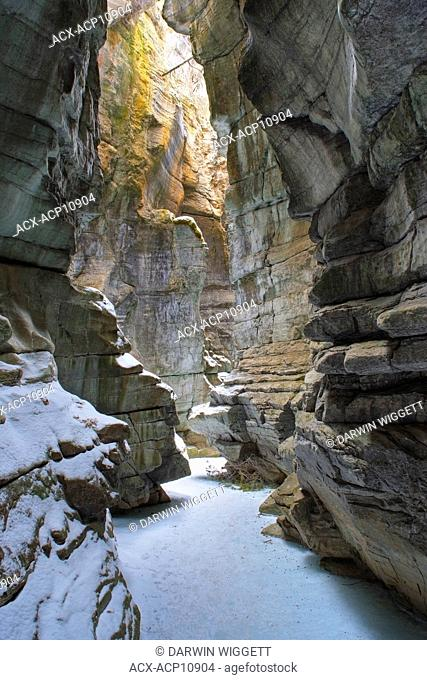 Maligne Canyon in Winter, Jasper National Park, Alberta, Canada