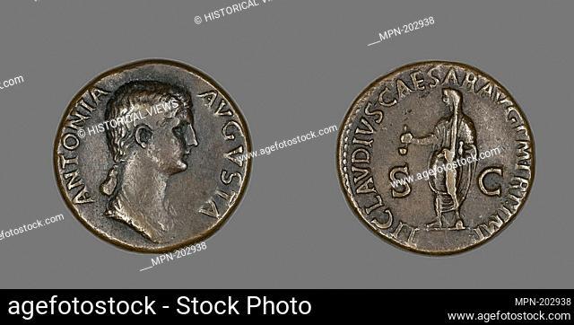 Dupondius (Coin) Portraying Antonia - AD 50/54 - Roman - Artist: Ancient Roman, Origin: Roman Empire, Date: 50 AD–54 AD, Medium: Bronze, Dimensions: Diam