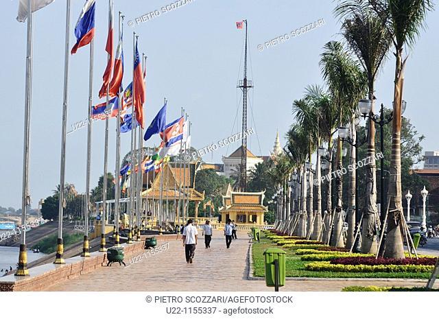 Phnom Penh (Cambodia): the Sisowath Quay