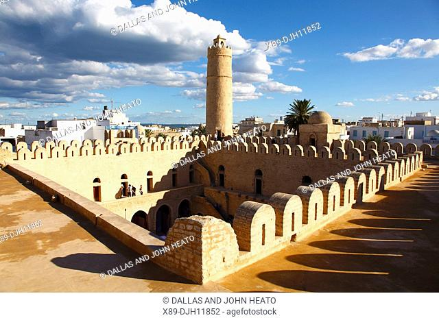 Africa, Tunisia, Sousse, Medina, Place de la Grande Mosque, Ribat, Monastic Fortress viewed from the Roof