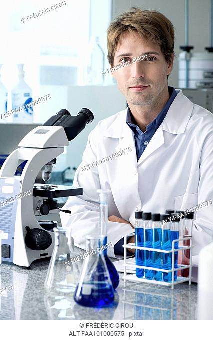 Scientist in laboratory, portrait