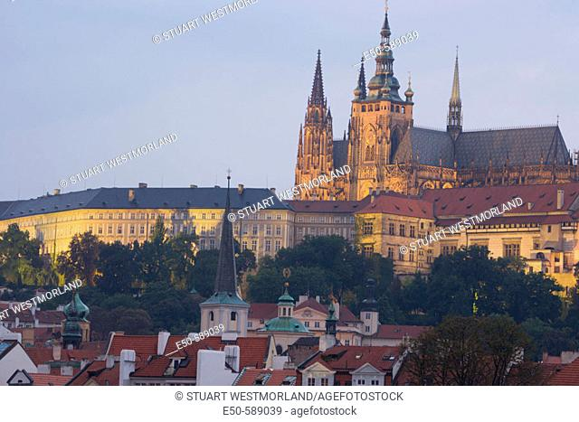 Prague Castle from Knights of the Cross Square, Prague, Czech Republic