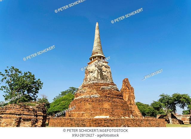 Wat Mahathat Chedi, Ayutthaya Historical Park, Thailand, Asia