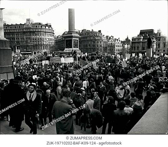 Feb. 02, 1971 - Many Thousands Take Part In Demonstration Against The Industrial Relations Bill: Many thousands of workers from all parts of the country took...