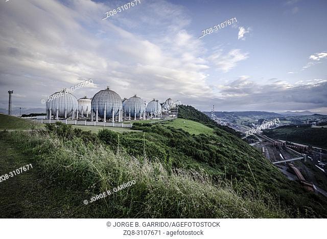 Panoramic view of Gijon from Cima torres, Gijon Asturias