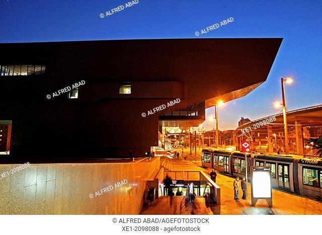 DHUB building, Design Museum, 2013, arch. Martorell, Bohigas and Mackay, Barcelona, Plaça de les Glories, Catalonia, Spain