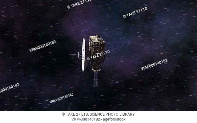 New Horizons in flight. Animation of the New Horizons space probe in flight towards the Kuiper Belt. New Horizons is an interplanetary space probe that was...
