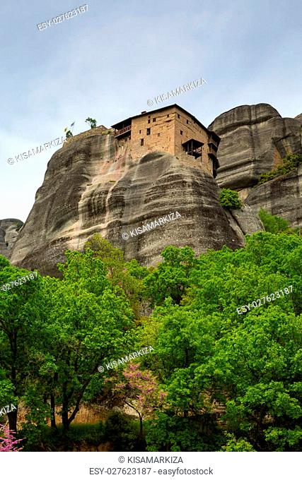 The Holy Monastery of St. Nicholas Anapausas, built in the 16th century. Included in the complex of Greek Orthodox monasteries Meteora