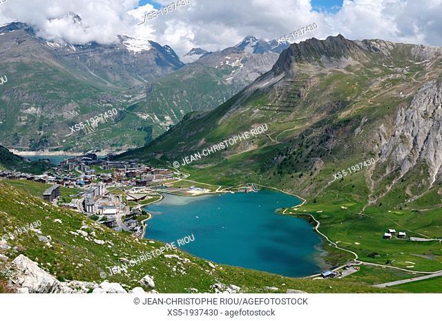 Lake, Tignes, Savoie, Rhône-Alpes, France