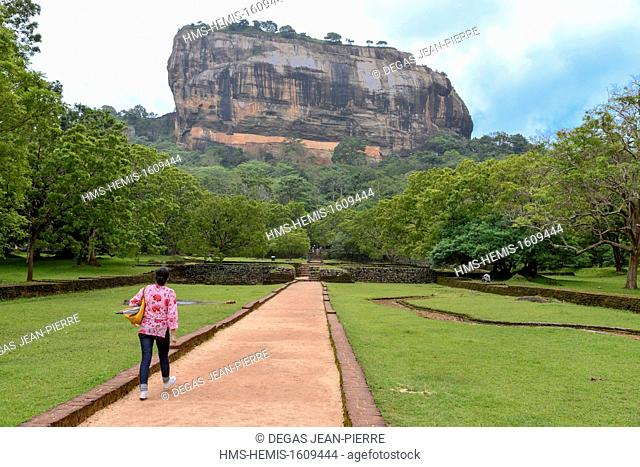 Sri Lanka, North-Central Province, Polonnaruwa District, Sigiriya, Old city of Sigiriya listed as World Heritage by UNESCO, Rock of the Lion