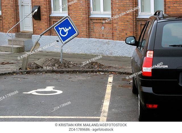 Disability parking, Denmark