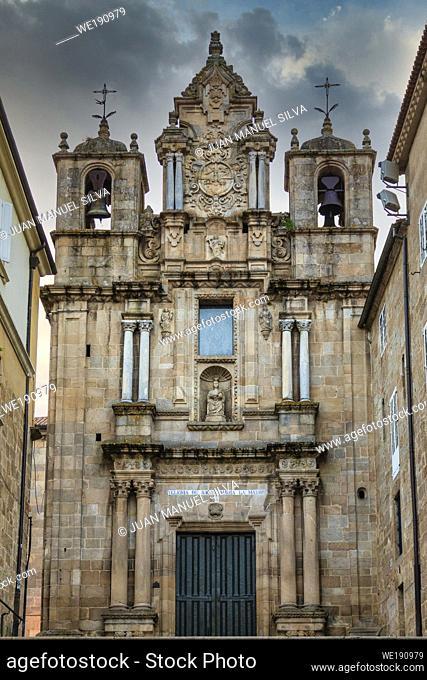 View of the (church) Iglesia de Santa Maria la Mayor in the city center of Ourense, Galicia, Spain
