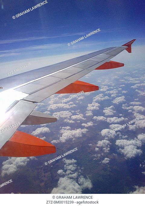 Easyjet flight over Europe
