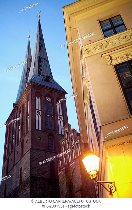 St. Nicholas Church, Nicholas Quarter, Mitte, Central Berlin, Berlin, Germany, Europe