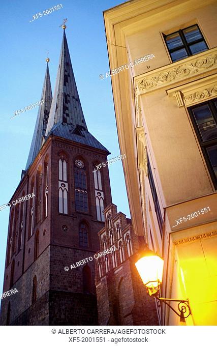 St. Nicholas Church, Nicholas Quarter, Mitte, Central Berlin, Berlin, Germany, Europe