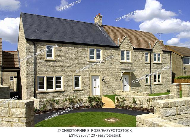 Finished houses on a new property development