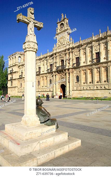 Spain, Castilla Leon, Leon, San Marcos Convent, Parador hotel