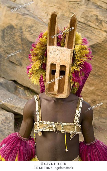 Masked Ceremonial Dogon Dancers, Sangha, Dogon Country, Mali