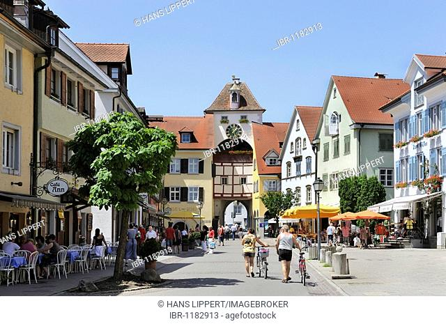 The lower part of Meersburg on Lake Constance, Baden-Wuerttemberg, Germany, Europe
