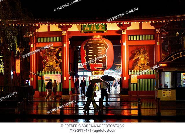 Senso-ji temple Asakusa by night, Tokyo, Japan,Asia