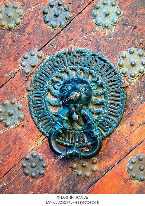 Photo of antique old door knob