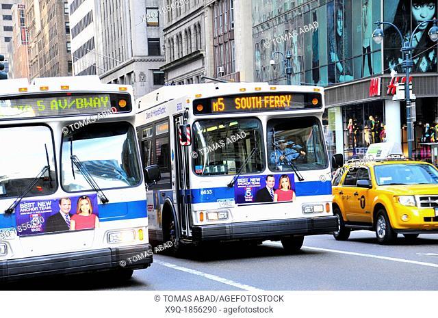 New York City Public Transportation M5 Bus, Manhattan, New York City, USA