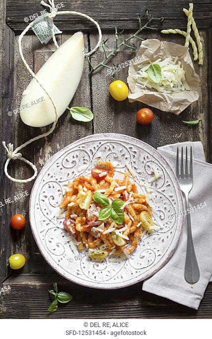 Italian pasta with cheese