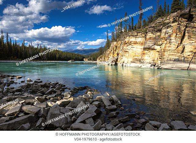 Athabasca Canyon in the Jasper National Park, Alberta, Canada