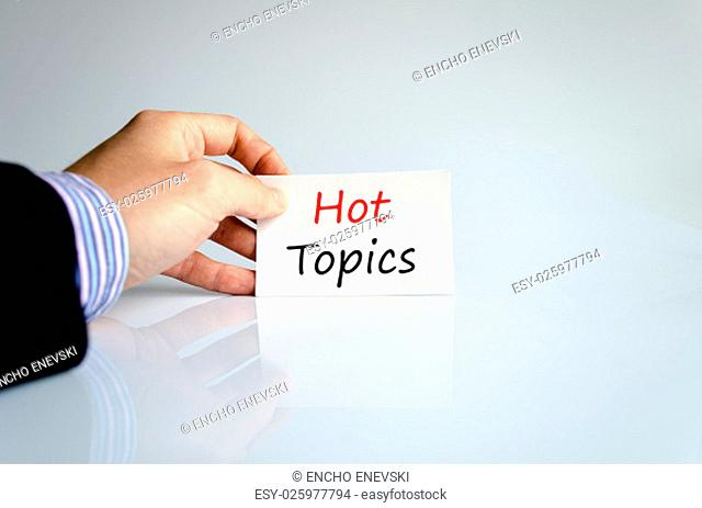 Hot topics text concept isolated over white background